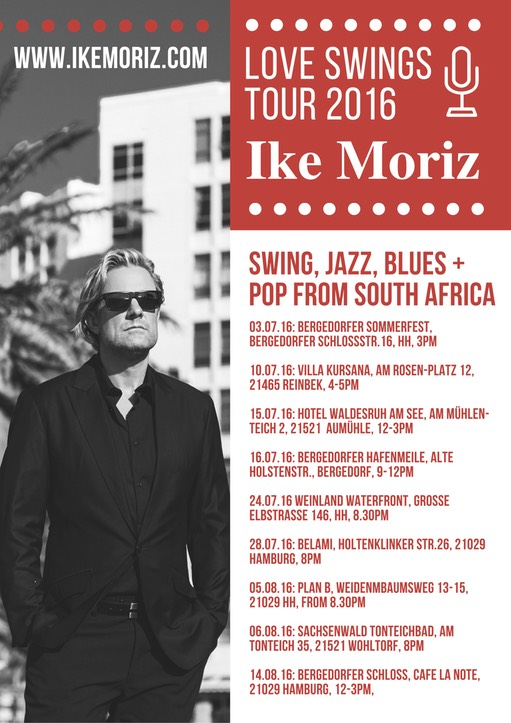 Ike Moriz Top Wedding Singer on tour in Germany 2016 Hamburg