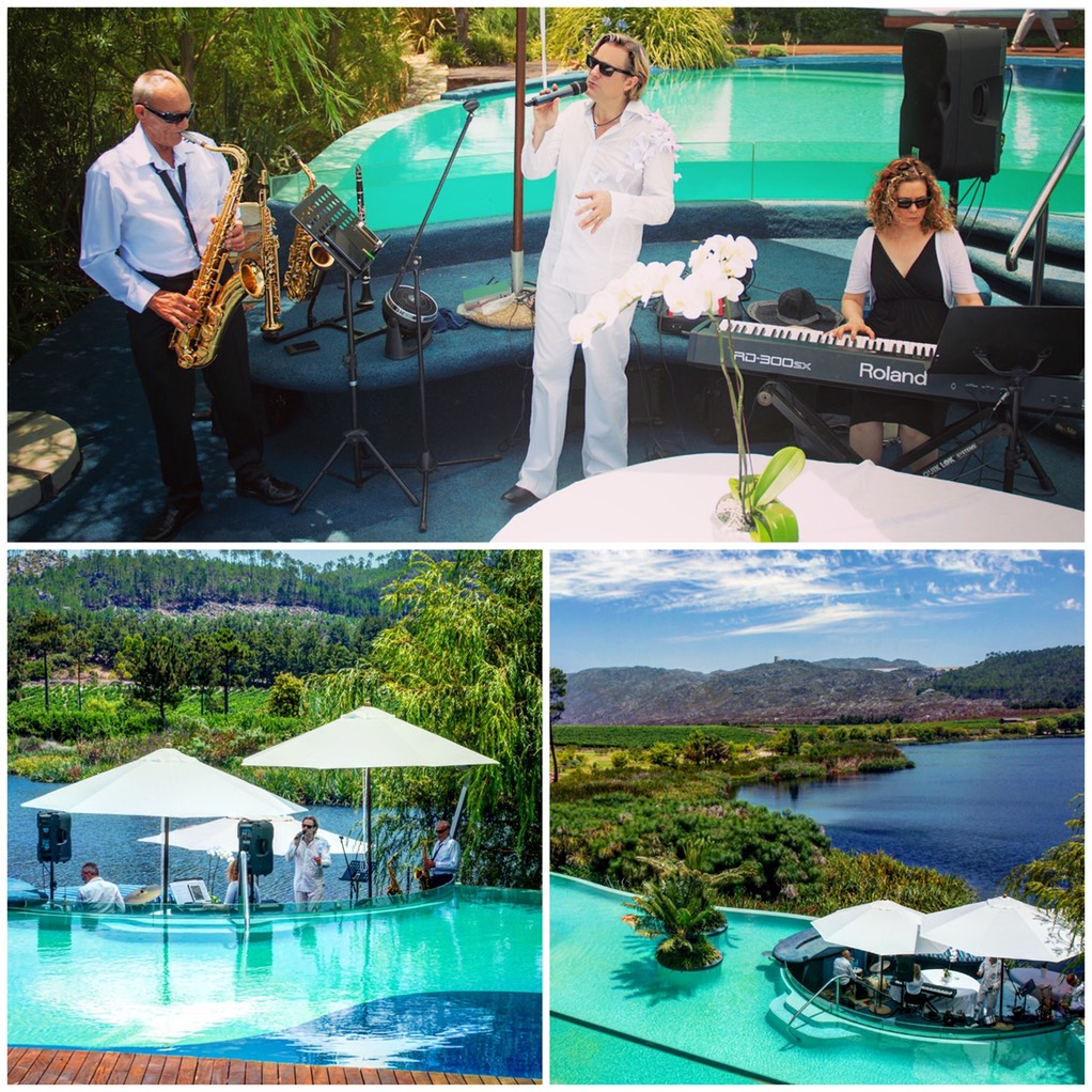 Marriage proposal Lothian Vineyards with Ike Moriz swing band top wedding singer