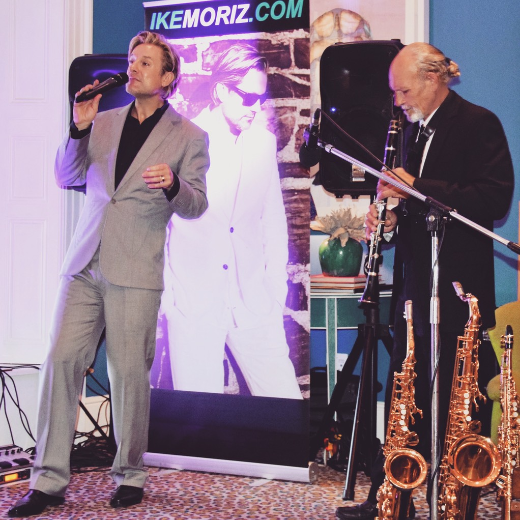 Iker Moriz at The Stack Gardens Cape Town Willie van Zyl swing jazz latin pop duo band entertainment wedding music top singer cape town live saxophone