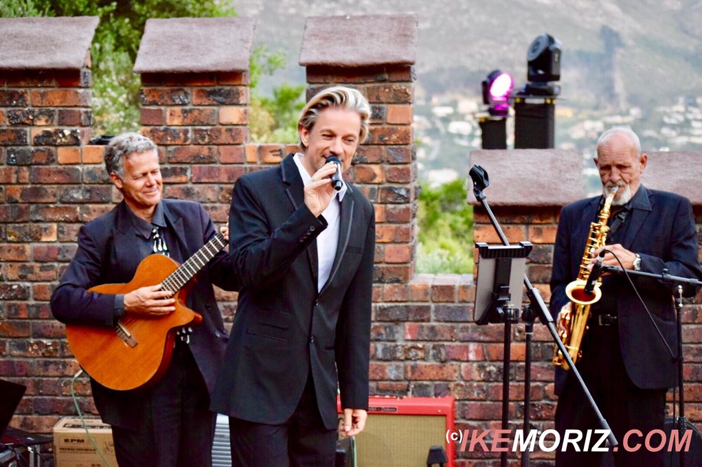 Ike Moriz Top wedding singer swing quartet Lichtenstein castle Hout Bay entertainment jazz pop blues dragon fantasy Russian live band Cape Town South Africa Mosquito records trio guitar sax clarinet vox
