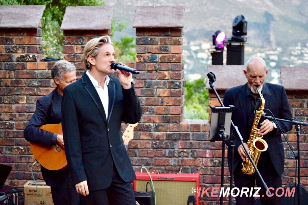 Ike Moriz Top wedding singer swing quartet Lichtenstein castle Hout Bay entertainment jazz pop blues dragon fantasy Russian live band Cape Town South Africa Mosquito records trio guitar saxophone crooner